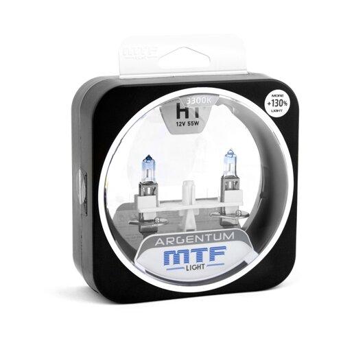 Фото - Лампа автомобильная галогенная MTF Argentum +130% H3A1201 H1 12V 55W 2 шт. лампа автомобильная галогенная mtf titanium htn12b4 hb4 9006 12v 55w 2 шт