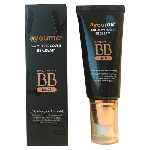 Ayoume BB крем Complete Cover, SPF 50, 50 мл, оттенок: 23 cappuccino beige lanopearl bb крем 5 в 1 spf 15 50 мл оттенок 1 pink beige