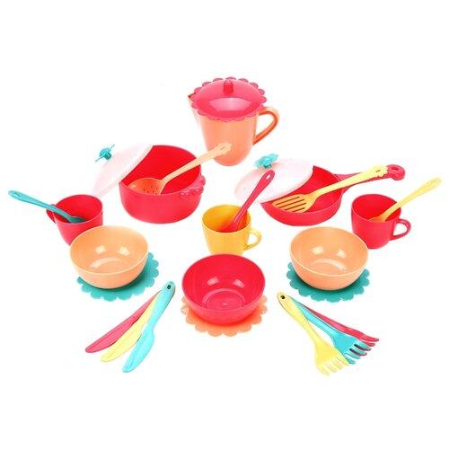 Купить Набор посуды Mary Poppins Карамель 39498 красный/голубой/бежевый, Игрушечная еда и посуда
