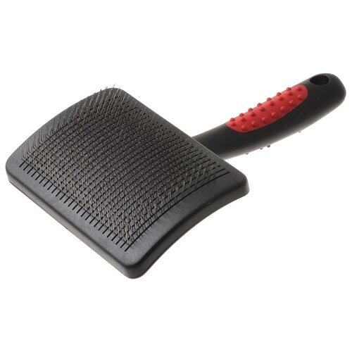 Щетка-пуходерка Hello PET 32371L красный/черный
