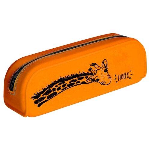 Купить Hatber Пенал Hello Giraffe (Npt_79214) оранжевый, Пеналы