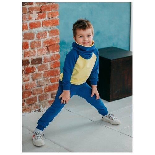 Купить Комплект одежды LeyLo размер 98, василек/желтый, Комплекты и форма