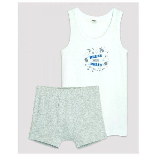 Купить Комплект нижнего белья Let's Go размер 152-158, белый/серый, Белье и пляжная мода