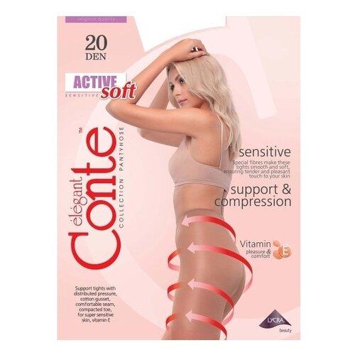 Фото - Колготки Conte Elegant Active Soft 20 den, размер 5, nero (черный) колготки conte elegant active 40 den размер 2 nero черный