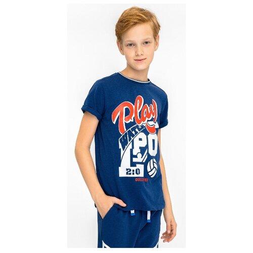 Купить Футболка Gulliver размер 164, синий, Футболки и майки