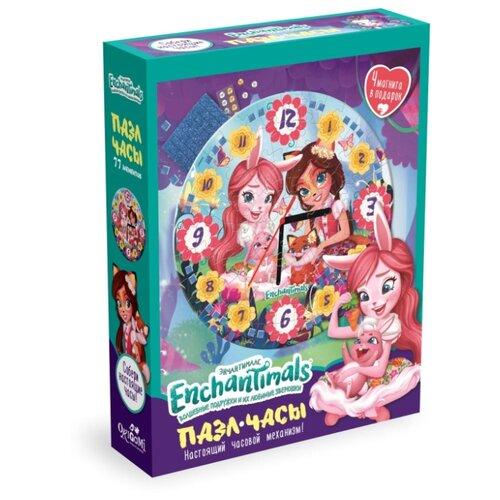 Купить Часы-пазл Origami Enchantimals Ромашковое поле (05068), 77 дет., Пазлы