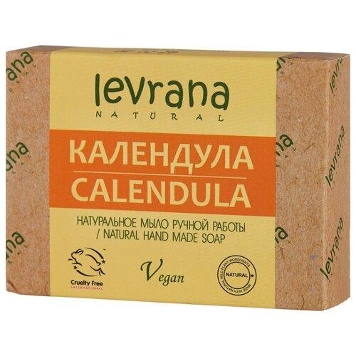Мыло кусковое Levrana Календула натуральное ручной работы, 100 г levrana натуральное мыло календула 100 г