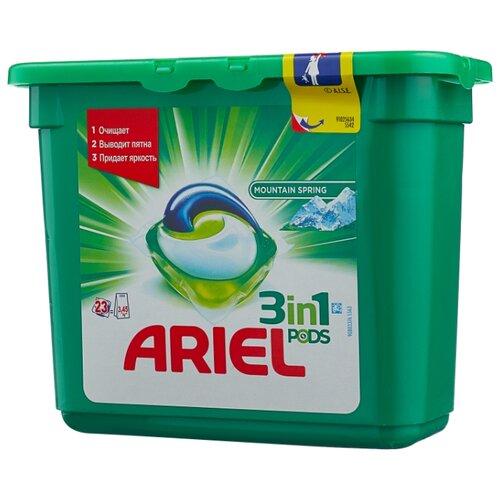 Капсулы Ariel Горный родник, контейнер, 23 шт цена 2017