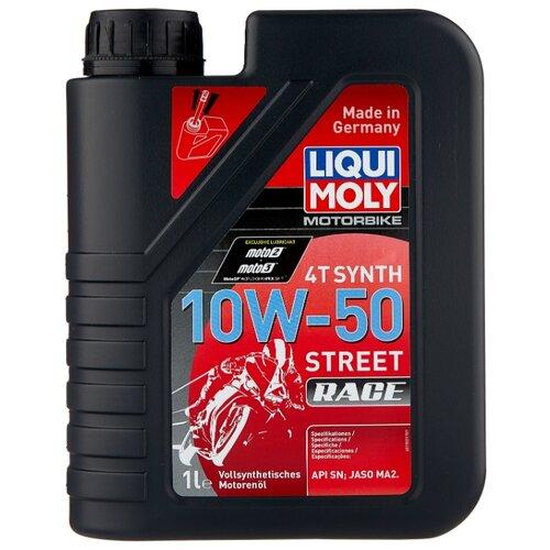 Моторное масло LIQUI MOLY Motorbike 4T Synth Street Race 10W-50 1 л цена 2017