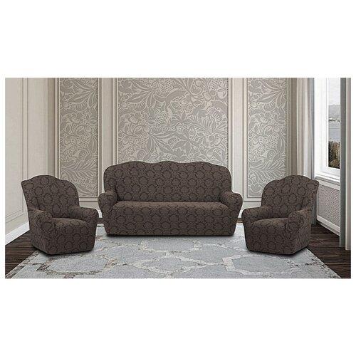 Комплект чехлов Жаккард на 3-х местный диван и 2 кресла, 514/311.001, Karteks