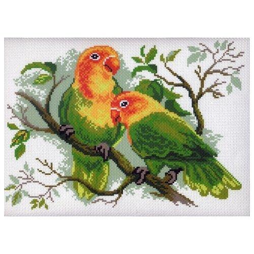 Купить Попугаи неразлучники Рисунок на канве 28/37 28х37 (21х29) Матренин Посад 444, Матрёнин Посад, Канва