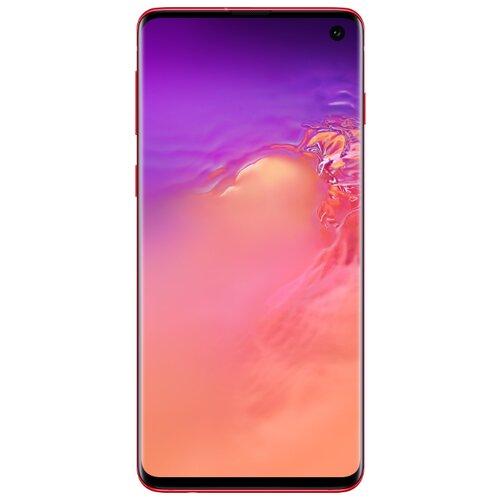 Смартфон Samsung Galaxy S10 8/128GB красный (SM-G973FZRDSER) смартфон samsung galaxy s10 8 128gb sm g975f red