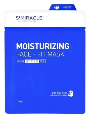 LS Cosmetic тканевая маска S+miracle Moisturizing Face-Fit увлажняющая