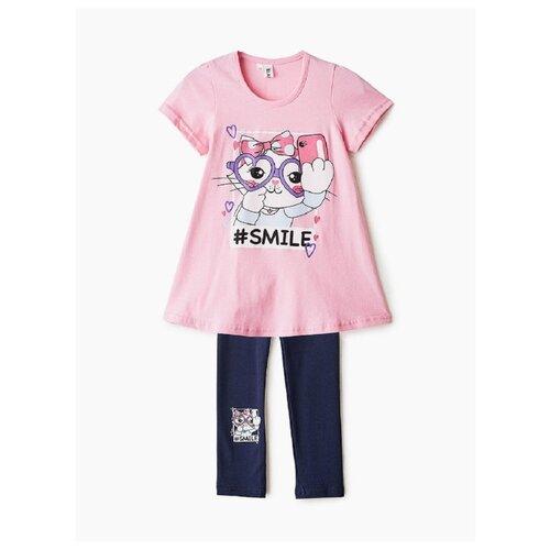Комплект одежды Elaria размер 128, розовый/черный комплект одежды looklie размер 128 134 розовый