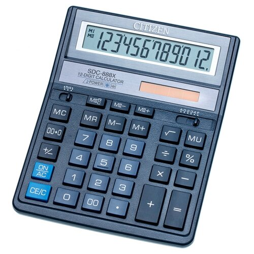 Калькулятор бухгалтерский CITIZEN SDC-888X синий