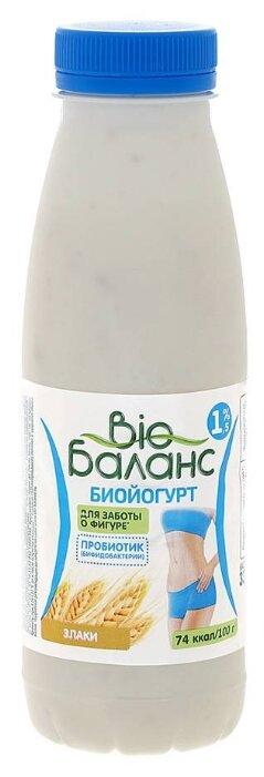 Питьевой йогурт Био Баланс с бифидобактериями Злаки 1.5%, 330 г