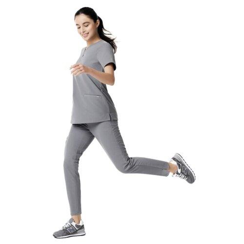 Медицинские брюки женские, светлый графит, размер XL