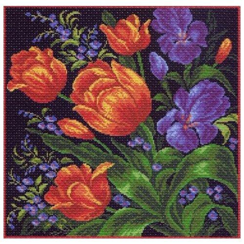 Фото - Тюльпаны Набор для вышивания крестом 41х41 (34х34) Матренин Посад 1098/Н набор для вышивания матрёнин посад 1853 н солнечный букет набор для вышивания