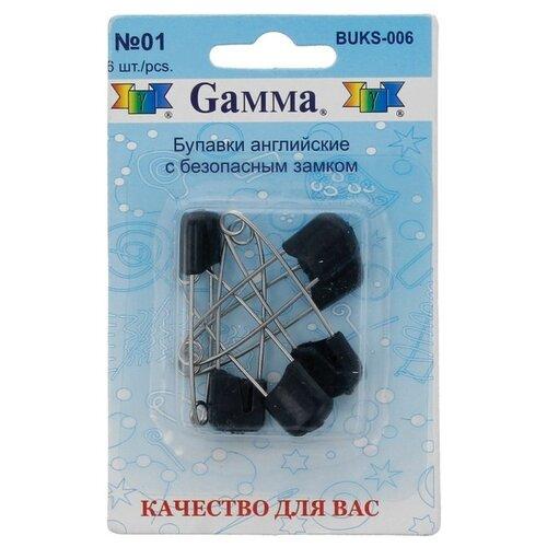 Купить Набор булавок Gamma BUKS-006, 01 черный, 6 шт., Иглы