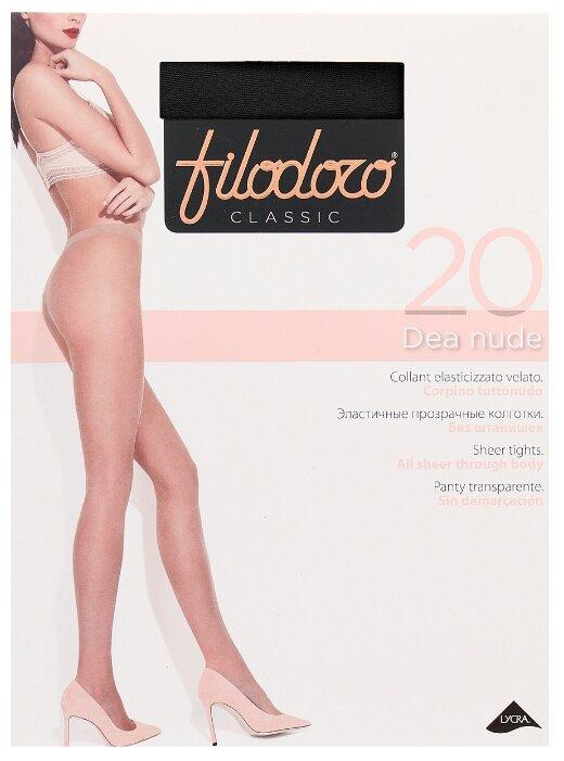Купить Колготки Filodoro Classic Dea Nude 20 den, размер 2-S, nero (черный) по низкой цене с доставкой из Яндекс.Маркета