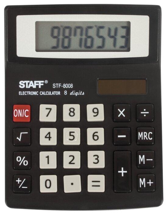 Калькулятор настольный STAFF STF-8008 (коробка)