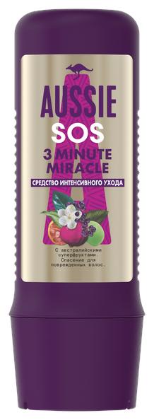 Aussie 3 Minute Miracle SOS Средство интенсивного ухода с австралийскими суперфруктами для поврежденных волос