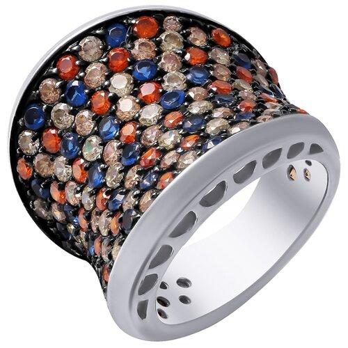 ELEMENT47 Кольцо из серебра 925 пробы с фианитами PR120052G-KO-001-WG, размер 17.25
