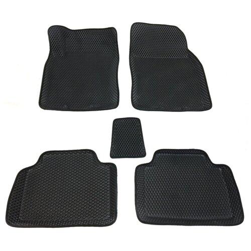 Комплект ковриков Boratex BRTX-10105 5 шт. черный