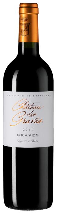 Вино Chateau des Graves, 2011, 0.75 л