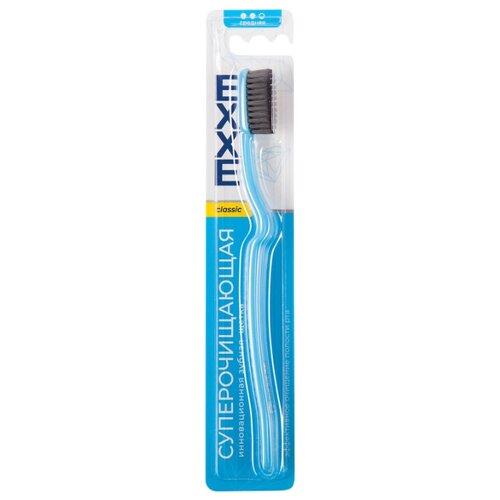 Зубная щетка EXXE classic Суперочищающая, средняя, голубой