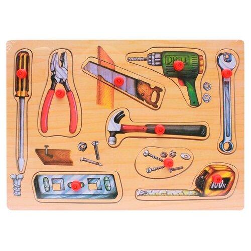 Купить Рамка-вкладыш Рыжий кот Мои инструменты (П-1047), 9 дет., Пазлы