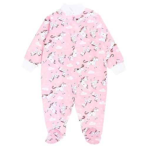 Купить Комбинезон Веселый Малыш размер 86, розовый/белый/серый, Комбинезоны