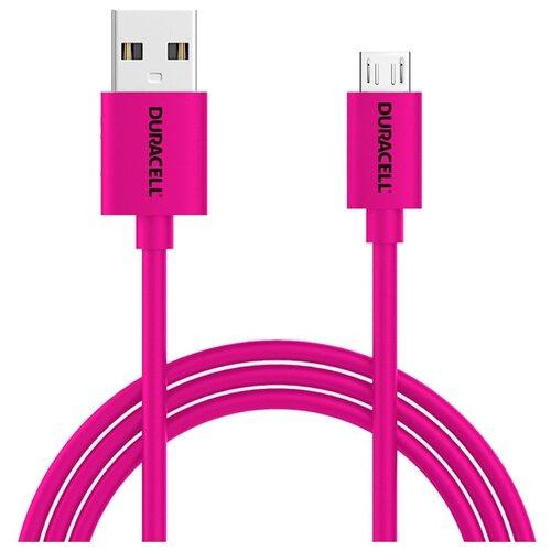 Кабель Duracell USB - microUSB (USB5013) 1 м розовый кабель fujipower розовый