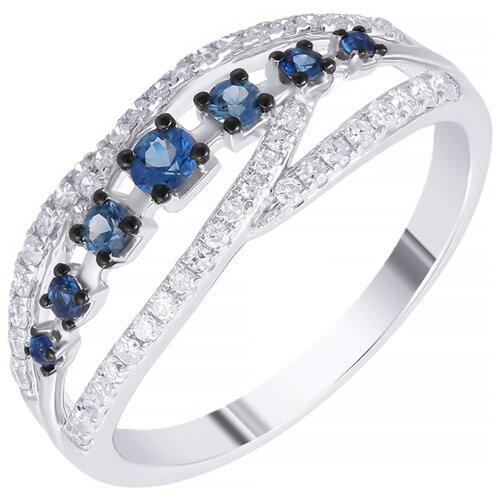 цена на JV Кольцо с сапфирами и бриллиантами из белого золота R50540A1S14WB001-KO-SA-WG, размер 18
