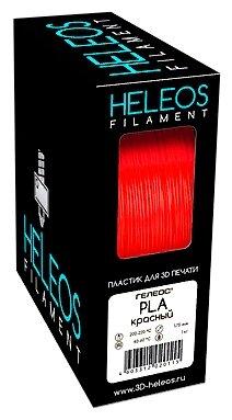 PLA пруток Heleos 1,75 мм красный 1 кг фото 1