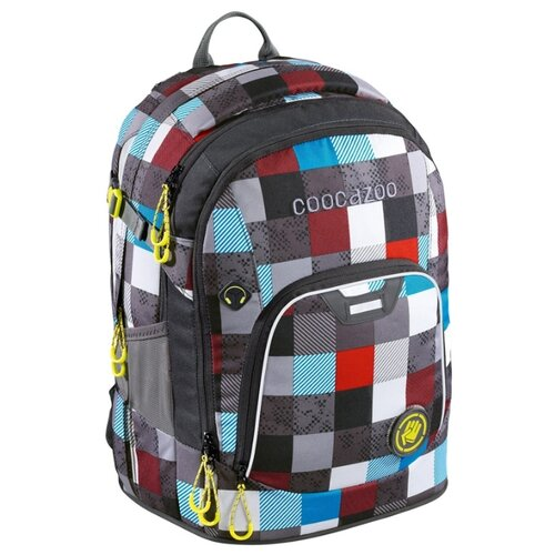 Coocazoo Рюкзак Ray Day Checkmate Blue Red (00139270), серый/бирюзовый