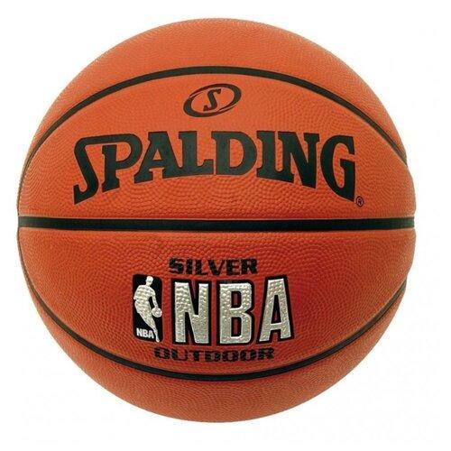 Баскетбольный мяч Spalding NBA Silver, р. 3 оранжевый spalding nba 44
