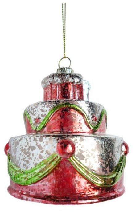 Новогодняя сказка Елочное украшения Торт 7,5 см 972880