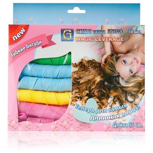 Гибкие бигуди Grido della Moda 3084648 18 шт. зеленый/голубой/желтый/розовый