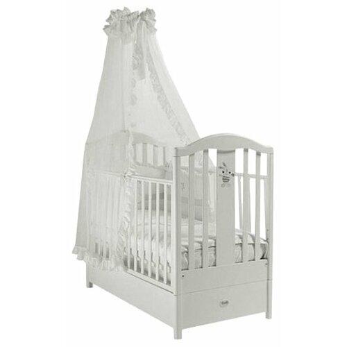 Купить Кроватка Feretti Ricordo FMS (классическая), продольный маятник белый, Кроватки