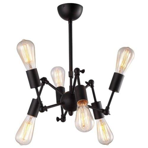 Люстра Arte Lamp A9190LM-6BK, E27, 240 Вт люстра arte lamp camomilla a6049pl 6wh e27 240 вт