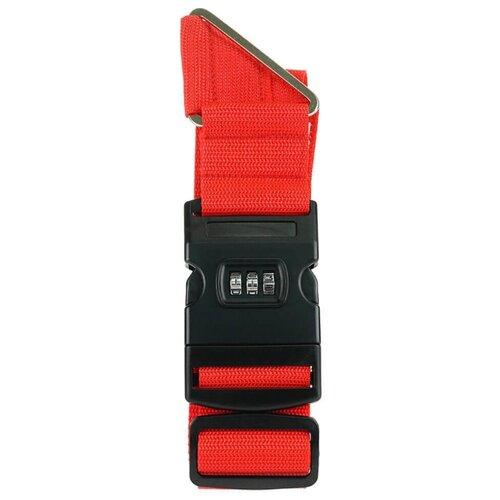 Ремень для багажа verona Corvus, красный набор для путешествий многофункциональный дорожный адаптер ремень для багажа уп 1 40наб