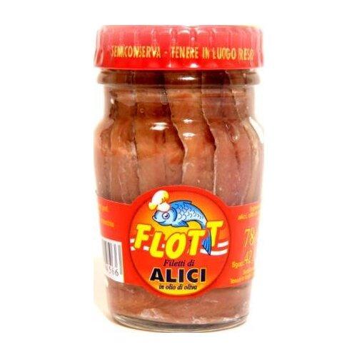 Flott Анчоусы филе в оливковом масле, 78 г