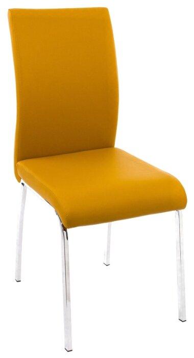 Кухонный стул Woodville Arsen желтый/хром
