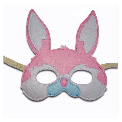 Купить Маска Santa Lucia Заяц (3021), серый/розовый, Карнавальные костюмы