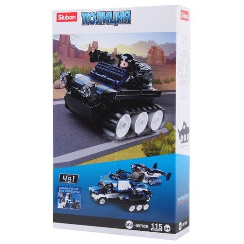 Конструктор SLUBAN Полиция M38-B0760B Вездеход конструктор sluban армейский грузовик m38 b0301 230 элементов