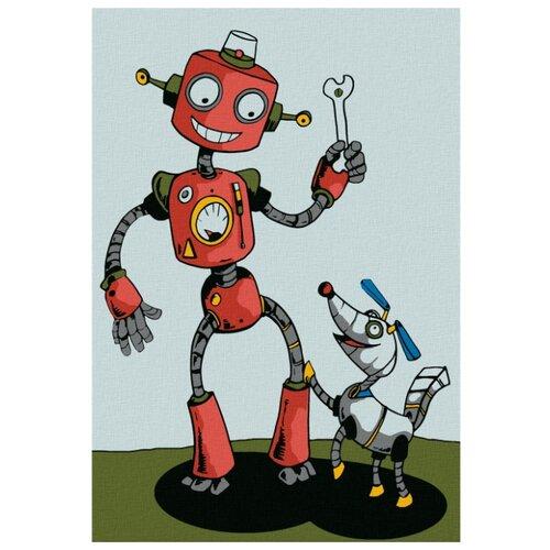 Купить Molly картина по номерам Робот 20х30 см (KHM0001), Картины по номерам и контурам