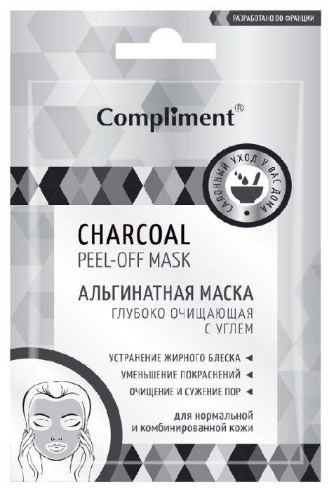Compliment Альгинатная маска peel-off Глубоко очищающая с углем