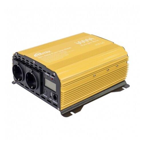 Инвертор Ritmix RPI-6102 золотистый/черный автомобильный инвертор напряжения ritmix rpi 6010 600вт max usb