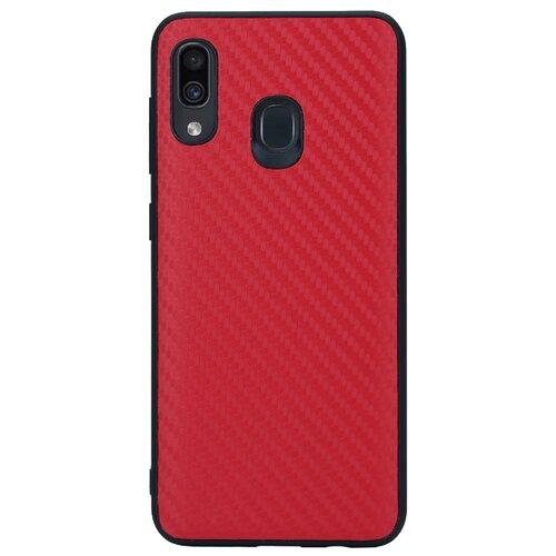 Чехол G-Case Carbon для Samsung Galaxy A20 SM-A205F/A30 SM-A305F красный чехол g case для samsung galaxy a30 sm a305f a20 sm a205f slim premium red gg 1101